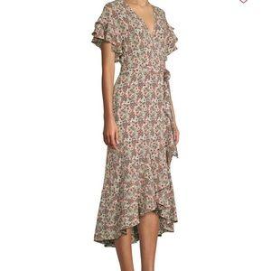 Max Studio floral short sleeve wrap Dress 🌸NWT